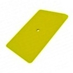"6"" YELLOW TEFLON HARD CARD SQUEEGEE"