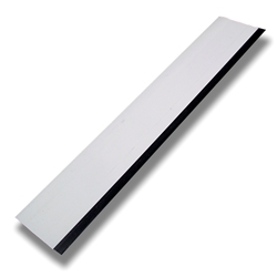 "12"" WHITE SQUEEGEE WITH BLACK RUBBER EDGE"